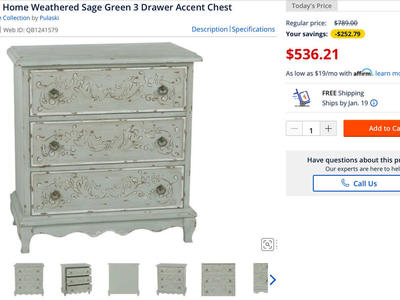 Accent rich Home Weathered Accent Chest