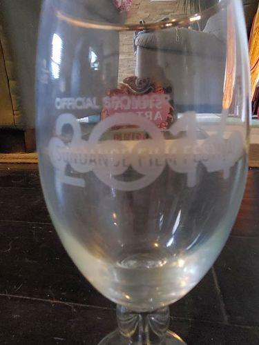 Set of 12 – Limited Edition2014 Sundance Embossed Raised Glass Stella Glasses for sale in Park City , UT