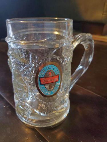 Set of 16 – Embossed Raised Glass Steinlager Beer Mugs for sale in Park City , UT