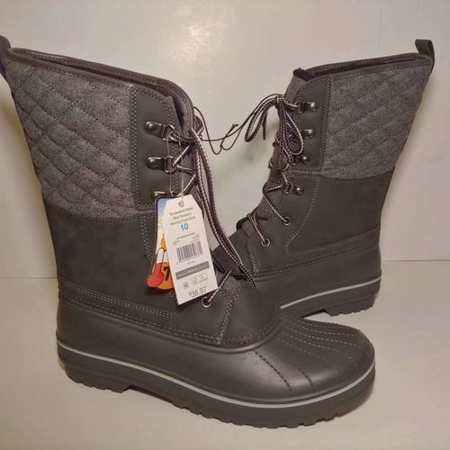 Time And Tru Womens Duck Boots Gray Black Quilted Lace Up Memory Foam 10 W New for sale in Draper , UT