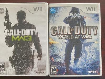 Wii Call To Duty Set