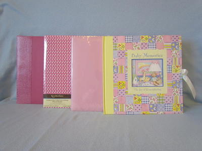 4 Lot Scrapbook Albums~12x12 Hot-Pink Baby Girl