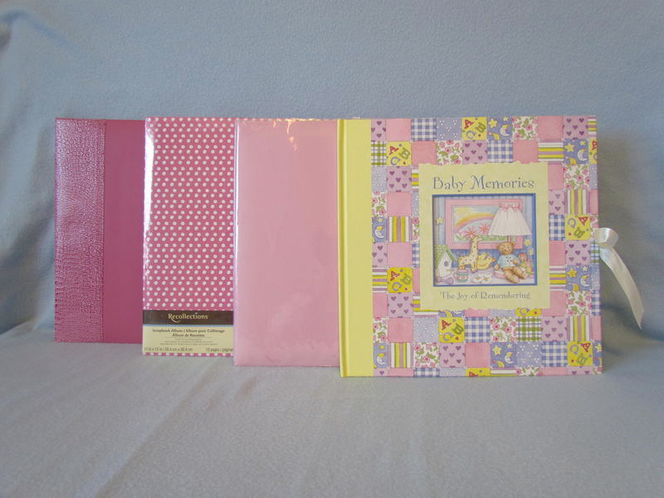4 Lot Scrapbook Albums~12x12 Hot-Pink Baby Girl for sale in Tooele , UT