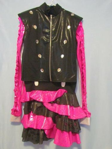 Hot Pink/Silver/Black Dance Costume Sz 10-12 / Lg for sale in Tooele , UT