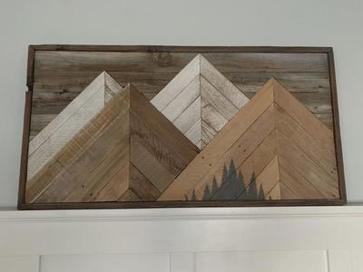 Reclaimed Wood Mountain-scape Wall Art