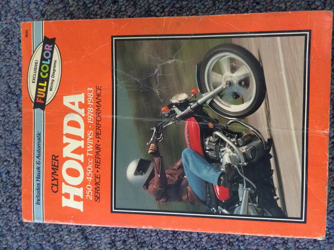 Clymer Service Manual for Honda 250cc-450cc 1978 to 1983 for sale in South Jordan , UT