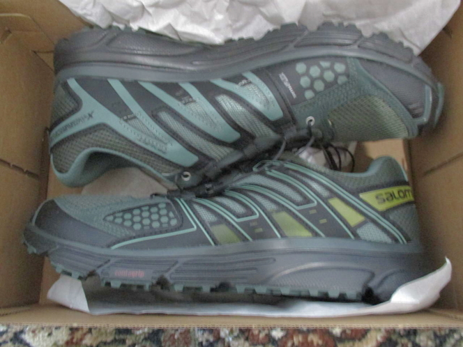 BNIB Salomon X-Mission 3 Men's Trail Running Shoe, Size 9, Black/Green for sale in Lehi , UT