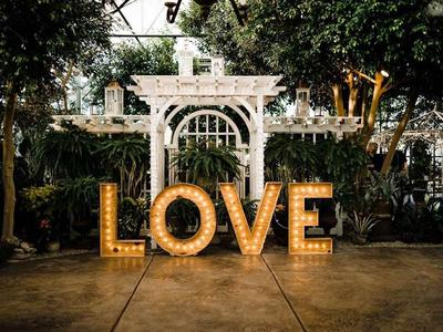Wedding Decor: LOVE Marquee Letter Sign to Rent