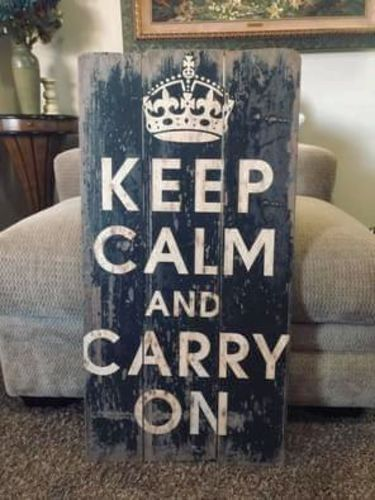 Keep Calm and Carry On Wall Decor for sale in West Jordan , UT
