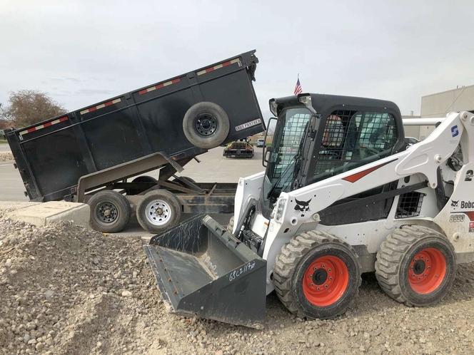 Bobcat rental with dump trailer. Nice skid steer and 14k dump trailer combo for rent in American Fork , UT