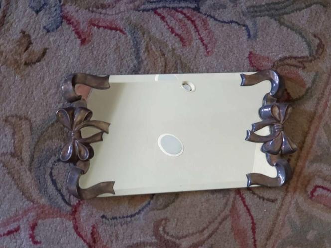 Silver plate perfume/cosmetics display mirror, vintage for sale in Herriman , UT