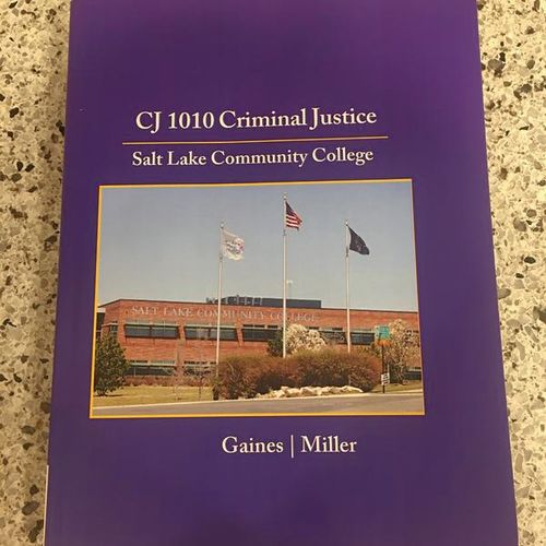 CJ 1010 Criminal Justice SLCC Textbook  for sale in Murray , UT