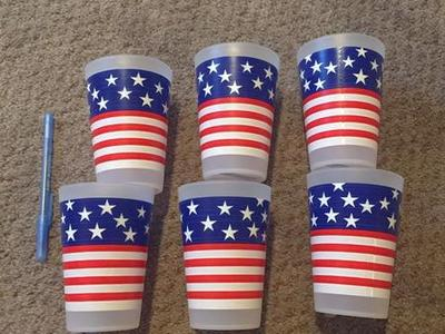 NEW American Flag Plastic Cups