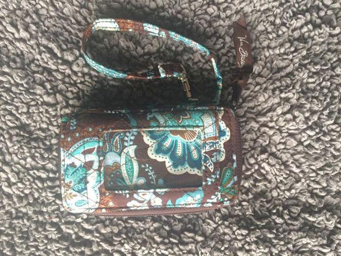 Vera Bradley Wristlet Wallet Brown Blue  for sale in Sandy , UT
