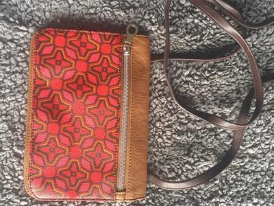 NEW Relic Tan Brown Pink Red Crossbody Purse Bag