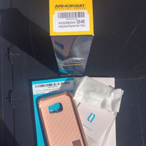 Samsung Galaxy S6 Edge Case Screen Protector Rose for sale in Sandy , UT