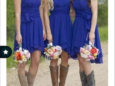 Royal Blue Bridesmaid Homecoming Dance Dress