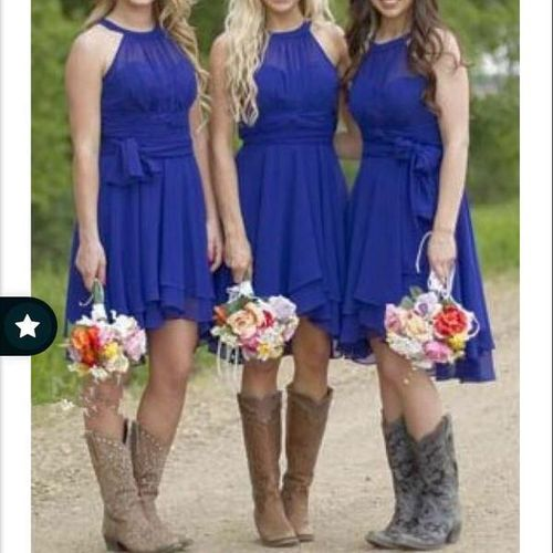 Royal Blue Bridesmaid Country Dress for sale in Sandy , UT