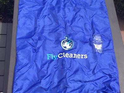 Large Blue Laundry Bag With Some Compartments