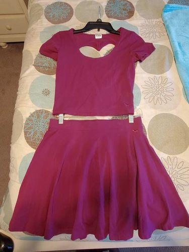 PINK Victoria Secret Purple Heart Back Shirt Skirt for sale in Sandy , UT
