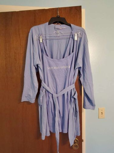 Victoria Secret Jersey Blue Robe and Tank Top Set for sale in Sandy , UT
