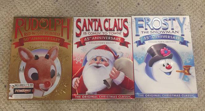 3 BRAND NEW Christmas DVDs! Santa Rudolph Frosty for sale in Murray , UT