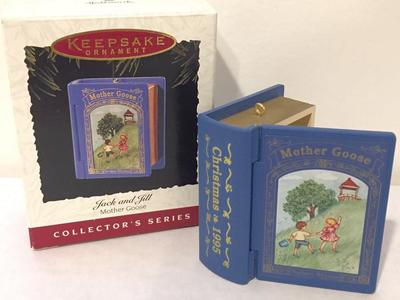 3 Hallmark MOTHER GOOSE Book Ornaments