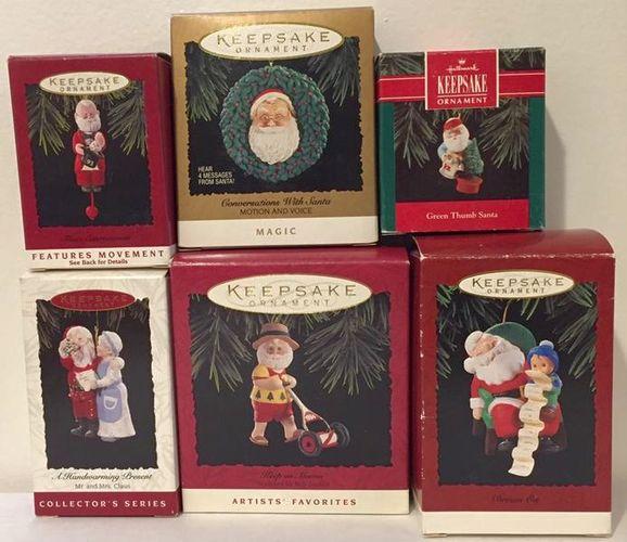 6 Vintage Hallmark Santa Christmas Ornaments for sale in Murray , UT