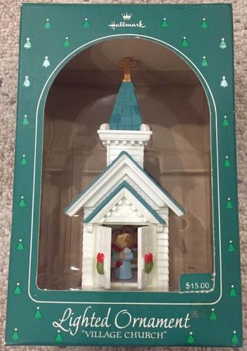 NEW 80s Hallmark Lighted Church Tree Ornament for sale in Murray , UT