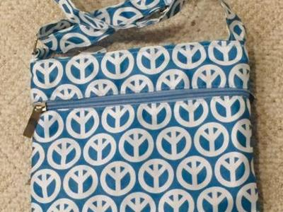 New Crossbody Purse - peace signs