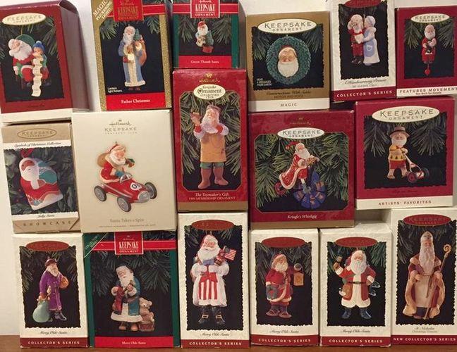 Santa Claus Hallmark Christmas Tree Ornaments for sale in Murray , UT