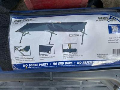 Folding Camp Cot Military Style LARGE 225 Lbs