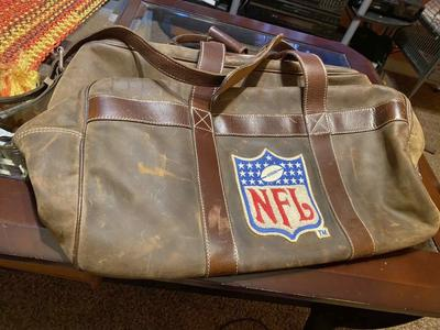 Original 1995 NFL SuperBowl Leather Duffle Bag GOO