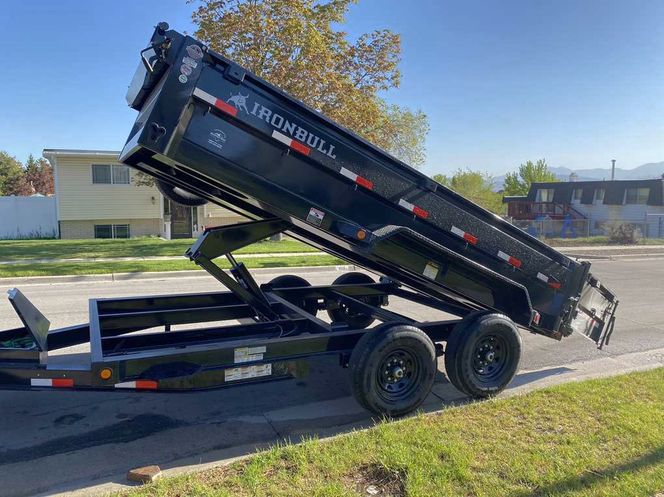 7x14 dump trailer w/ 2' sidewalls  for rent in Sandy , UT