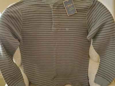 NEW IZOD long sleeve stripped medium shirt