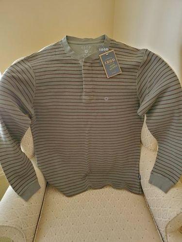 NEW IZOD long sleeve stripped medium shirt for sale in Midvale , UT