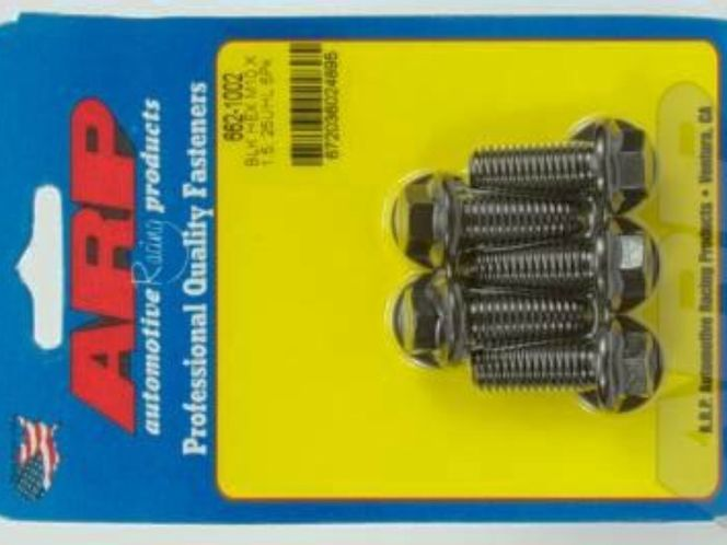 ARP bolts (5 pack) M10 X 1.50 X 25 Hex Black Oxide Bolts for sale in Draper , UT