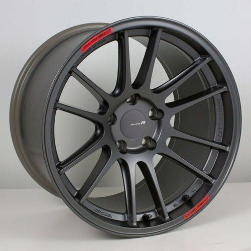**ONLY 2 wheels** Enkei GTC01-RR 18x9.5 +35mm 5x100 Matte Gunmetal! Subaru Impreza WRX BRZ STI Volkswagen GTI VW Labor Day $650! for sale in Draper , UT