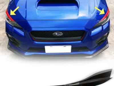 AMS Japan Headlight Eyebrows MANY different colors. Subaru WRX STI 2015-2021