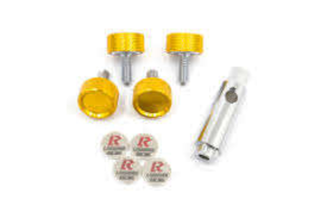 KICS Leggdura Racing License Plate Lock Bolt Kit. Gold for sale in Draper , UT
