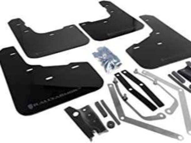 Rally Armor UR Mudflaps Black Urethane Grey Logo Ford Fiesta ST 2014+ for sale in Draper , UT