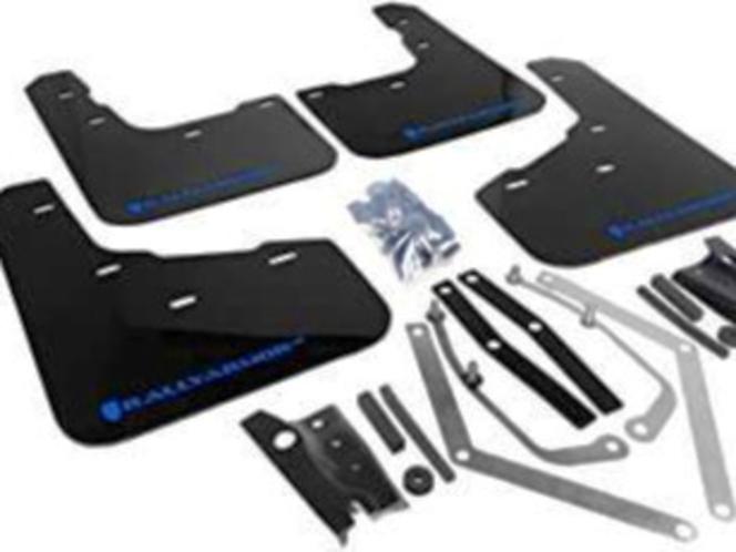 Rally Armor UR Mudflaps Black Urethane Blue Logo Ford Fiesta ST 2014+ for sale in Draper , UT