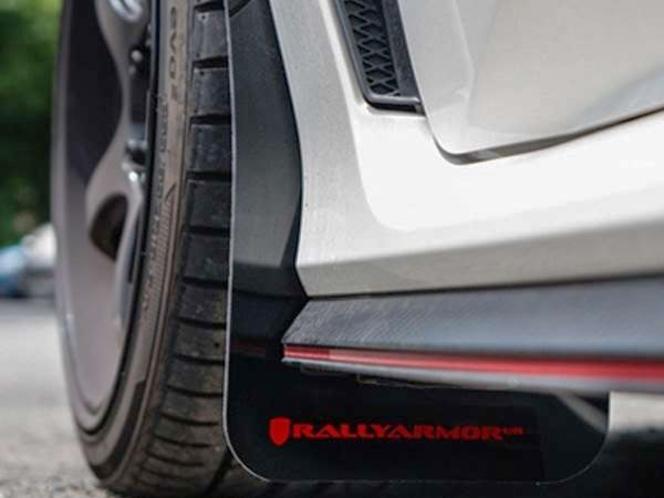 Rally Armor UR Mudflaps Red Urethane Black Logo 17+ Honda Civic Type R for sale in Draper , UT