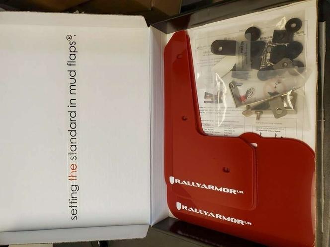 Rally Armor UR Mudflaps Red Urethane White Logo Hyundai Veloster 2012-2014 for sale in Draper , UT
