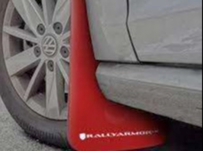 Rally Armor UR Mudflaps Red Urethange White Logo 2015-17 MKVII MK7 VW Golf GTI or TSI for sale in Draper , UT