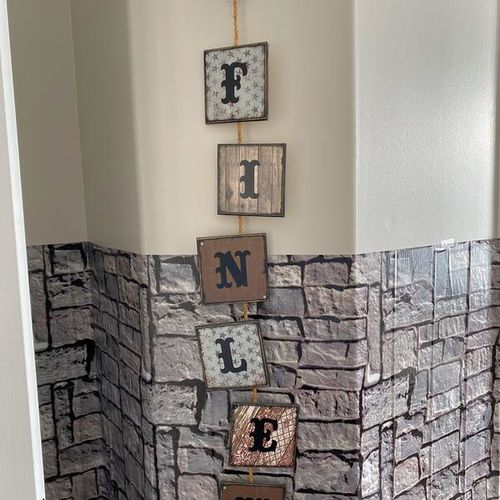 Cowboy Cowgirl Finley name hanging decoration for sale in South Jordan , UT