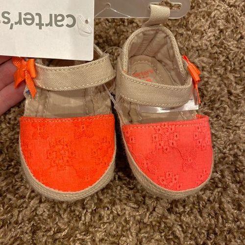 New Newborn Pink Orange Baby Shoes Sandals  for sale in South Jordan , UT
