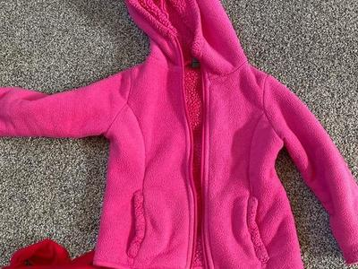 Little Girl 3 T Pink Thick Jacket Zip Up With Hood