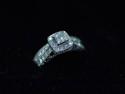14k White Gold Diamond Wedding Set Size 6.5