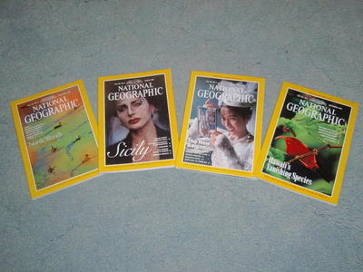 National Geographip magazines - hundreds for sale